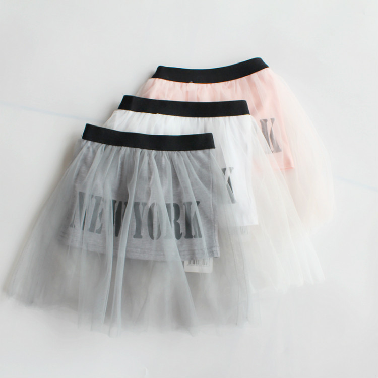 2015 Baby Girls Tulle Lace Letter Maxi Skirts Kids Girl Summer TuTu Princess Skirt Children's Clothing Babies CLothes - Miss2010 store