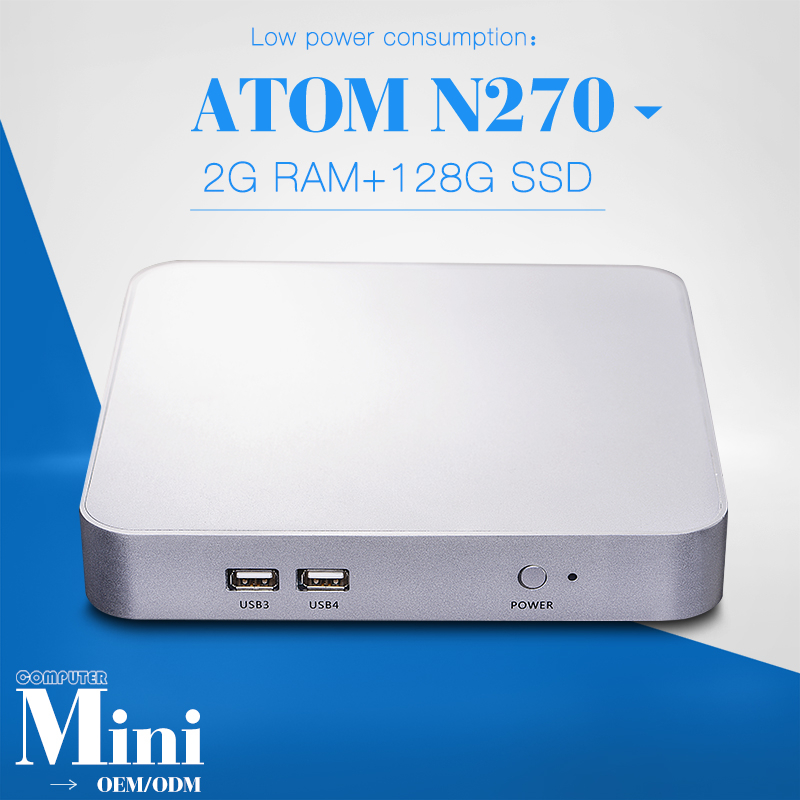 Embedded Computer Mini Pc for Linux Server Can Run Windows Vista Or 8 X26-N270L N270 2gb Ram And 128gb SSD(China (Mainland))