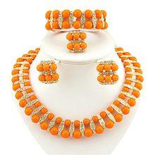 Farbe schmuck sets frauen perle halskette afrikanische braut schmuck sets schmuck dubai schmuck sets afrikanische perlen schmuck set(China)