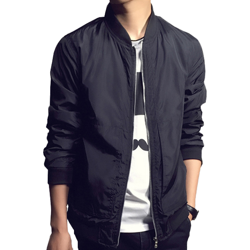2016 New Arrival Autumn Men's Jackets Solid Fashion Coats Male Casual Slim Bomber Jacket Men Outerdoor Overcoat(China (Mainland))