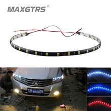4Pcs/lot 60cm 5050 24SMD White/Blue/Red/Yellow/Green Waterproof Lights High Power Car Auto DRL Decor Flexible LED Strips(China (Mainland))