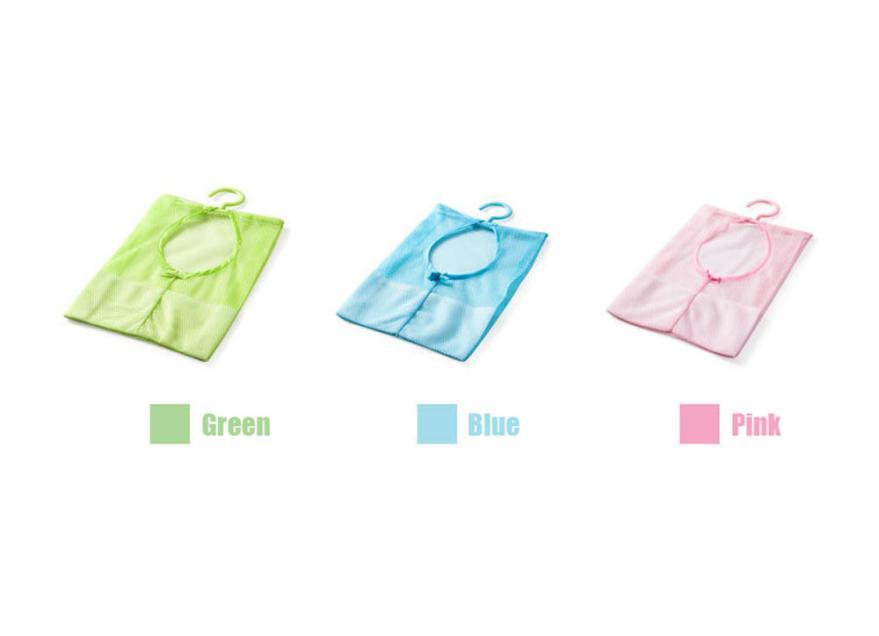 Fashion Heaven 1pc Kitchen Bathroom Clothesline Storage Dry Doll Pillow Shelf Mesh Bag Hook Free Shipping Mar26(China (Mainland))