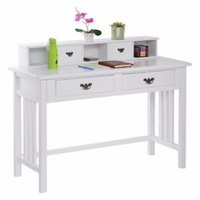 Writing Desk Mission White Home Office Computer Desk 4 Drawer White Free Shipping HW50202+(China (Mainland))