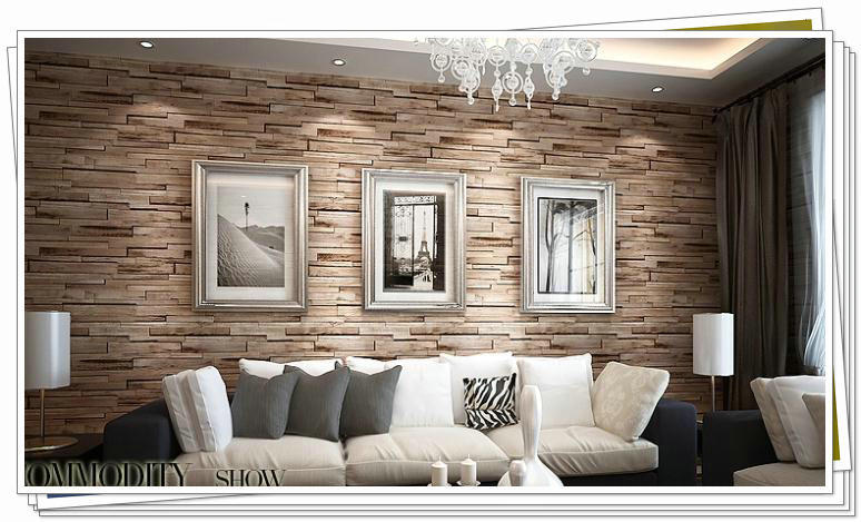 Wood and stone effect wallpaper for Top 10 living room wallpaper