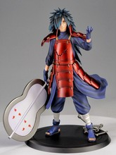 New arrival 1pcs Japana anime Naruto Uchiha Madara action pvc figure toy tall 25cm in box.
