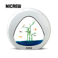 Nicrew Desktop Aquarium Table Top Betta Fish Tank Creative Aquarium Integration Filter LED light System Office