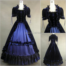 ruffles gothic ruffles  long medieval dress Renaissance Gown queen cosplay Victorian /Marie  Belle Ball