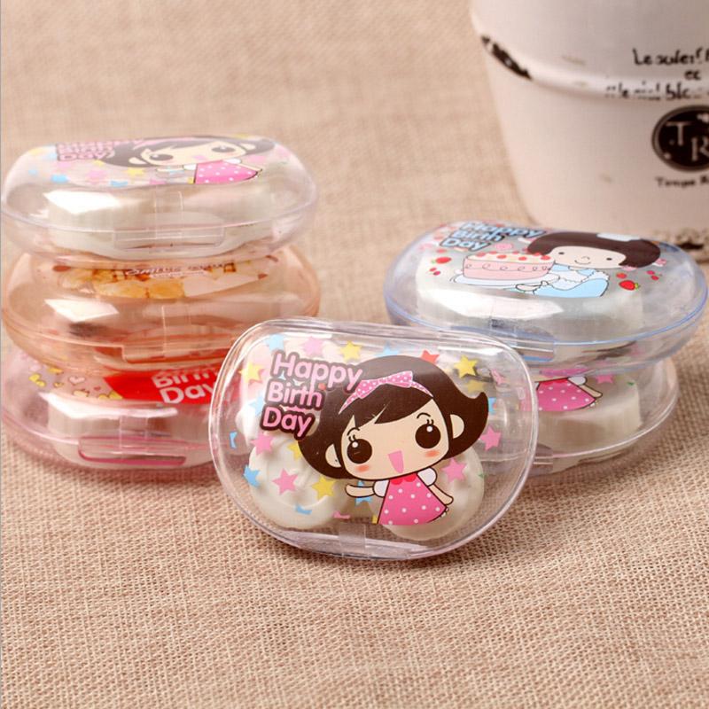 Korean Cute girl Cartoon Bear Contact Lens Case Eyewear Storage Box Holder PVC Plastic US-pupil Box Travel Kit SN38(China (Mainland))