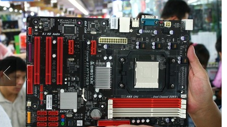 100% original desktop motherboard Biostar A770E3 desktop motherboard amd AM3 cpu DDR3 free shipping(China (Mainland))