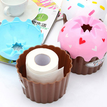 New Lovely Adorable HOT Ice Cream Cupcake Tissue Box Towel Holder Paper Container Dispenser Cover Home Decor random color(China (Mainland))
