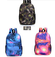 2015 Hot  women men fashion  starry sky backpacks cool student school bag  3 colors teenager canvas backpack(China (Mainland))