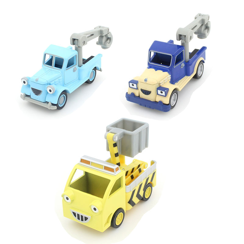 3Pcs / Set Bob the Builder crane series Magnetic car Metal casting Alloy toy car Free Shipping(China (Mainland))
