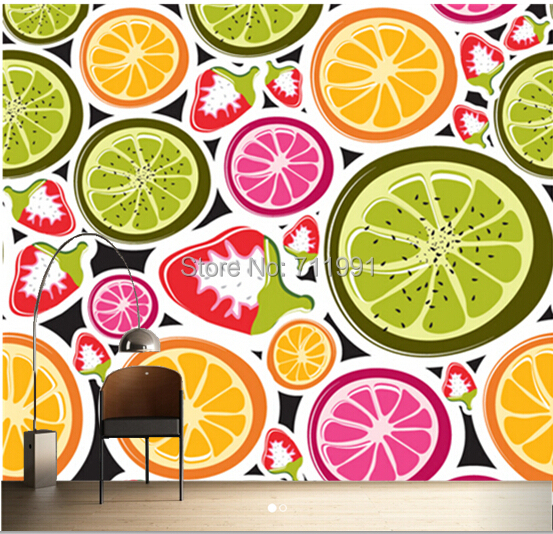 free shipping custom 3d funky fruits food wall mural funky numbers wall mural amp photo wallpaper photowall