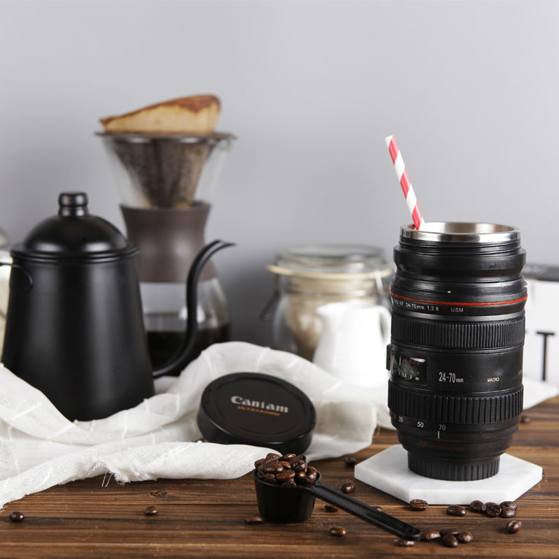 420ml Stainless Steel SLR Camera Coffee Lens Mug cup 1:1 Scale Coffee Cup 100% with Creative Gift(China (Mainland))