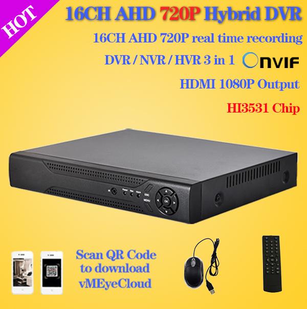 16 канальный Full 960h в Д1 гибридный видеорегистратор видеорегистратор стандарт onvif,16 каналов безопасности CCTV DVR рекордер для домашнего наблюдения,с разрешением 1080p по HDMI, HI3531 чип