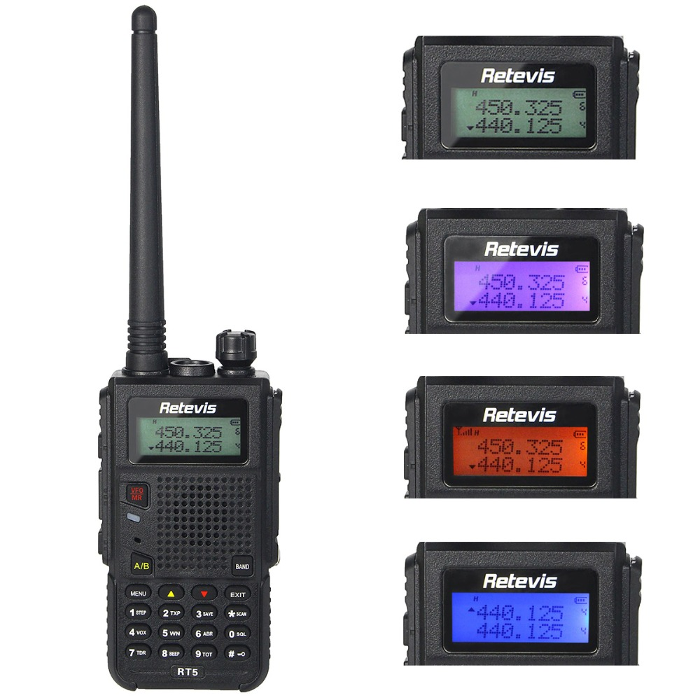 8W Walkie Talkie Retevis RT5 Dual Band VHF/UHF 136-174+400-520MHz 128CH Scan VOX DTMF FM Radio 1750Hz Two Way Radio A9108Q(China (Mainland))