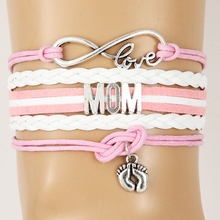 Buy Infinity Love Family Name Bracelets Handmade Feet Charm Mother/Mom/Grandma/Sister/Aunt/Daughter/Nana etc Bracelet & Bangles for $1.99 in AliExpress store