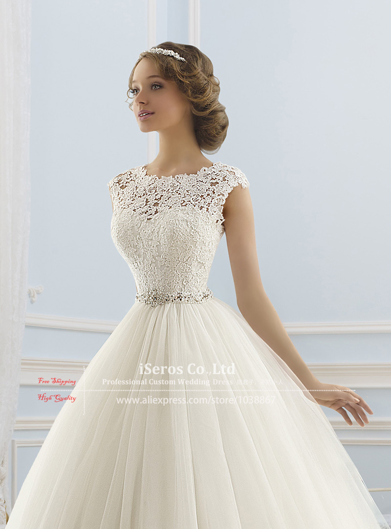 Turmec » ball gown wedding dresses with cap sleeves