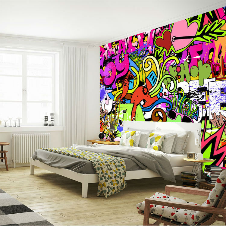 Graffiti Wall Art Bedroom Rabbit Shadow Graffiti Wall Art Sticker Lounge Be