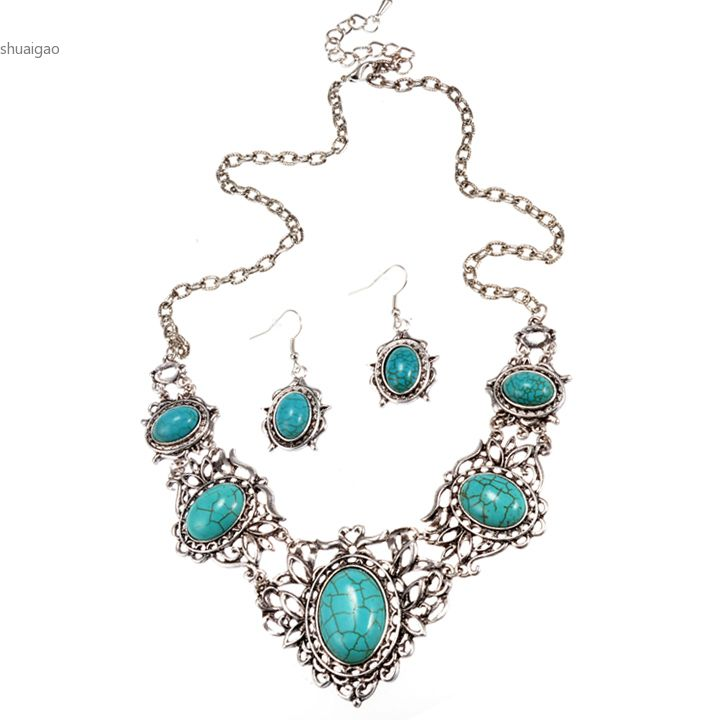 2015 top selling retro hollow out turquoise pendant for Drop shipping jewelry business