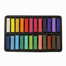 JFYB-Hot Sale Non-Toxic Hair Chalk Temporary Hair Dye Color's Soft Pastels Salon Set Kit (24 PCS) for Hair Styling(China (Mainland))