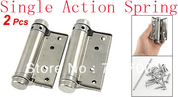"""2 Pcs Door Stainless Steel 3"""" Single Action Spring Hinges"""