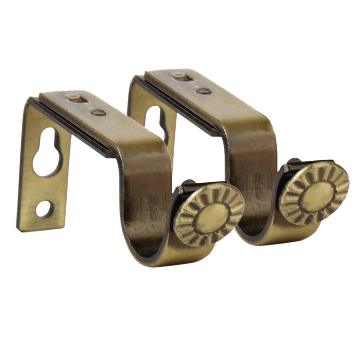 2pcs 22mm Cornices Accessories Pole Mounting Curtain Holder (Bronze) Curtain rome rod curtain pole mount single curtain holder(China (Mainland))