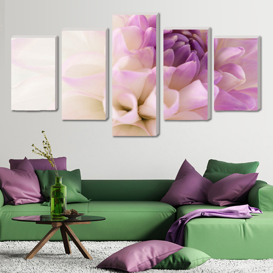 (No Frame)Sitting Room Module Picture Poster On The Wall Orchid Home Decor Cuadros Decoration 5 Pcs Wall Art Canvas Oil Painting(China (Mainland))