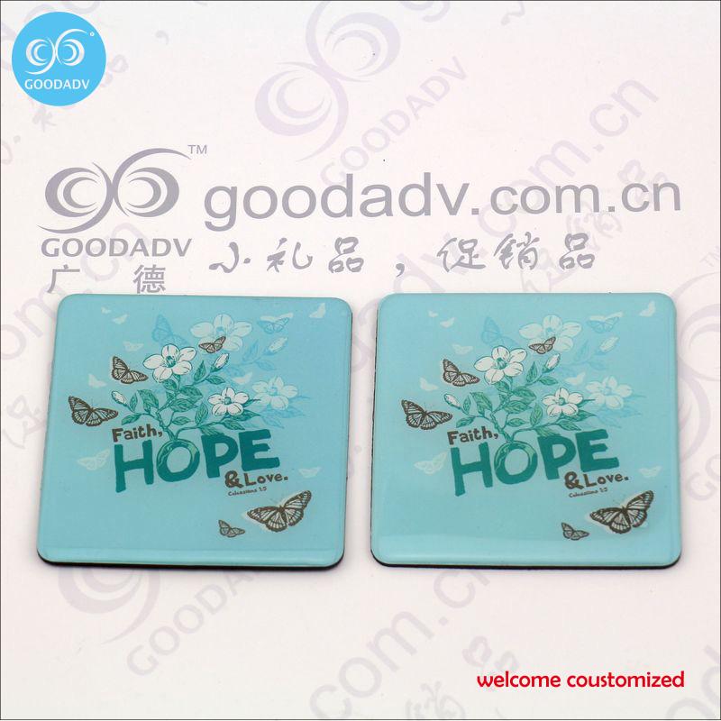 High quality promotional gifts / souvenirs Custom Epoxy fridge magnet Free Shipping(China (Mainland))