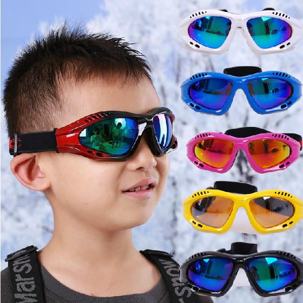 Professional Kid Skiing Mirror single Layer Antimist Ski Eyewear Anti-UV Windproof Children ski eyewear kids ski goggles(China (Mainland))