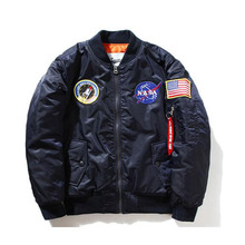 Nasa bomber Jacket men Women Pilot MA1 man Coat winter hombre Jaqueta Flight Air Force Baseball army green Kanye West jacket(China (Mainland))