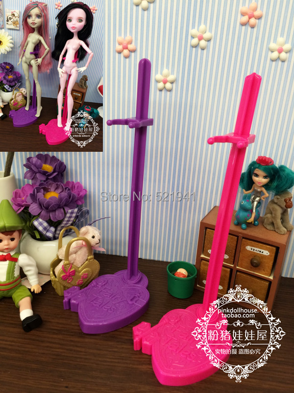 2014 New Free shipping 10pcs/lot Doll Stand Display Holder For Monster High dolls/Ever After High doll dolls accessor<br><br>Aliexpress