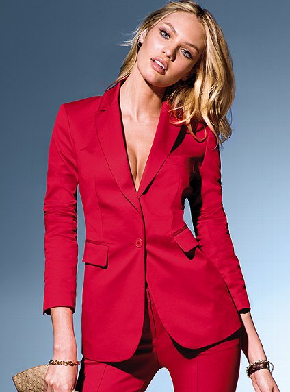 Excellent 2012 AW Europe Fashion Women39s Beautiful Red Ankle Length Pants Suits