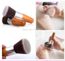 1 PCS Flat Top Buffer Foundation Powder Brush Cosmetic Makeup Tool Wooden Handle Free Shipping