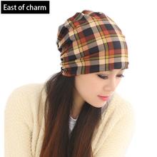 Beautiful Lady Fashion Skullies Beanie Plaid Winter Hats For Women Beanies Elastic Warm Cap Warm Gorro toucas inverno femininas(China (Mainland))