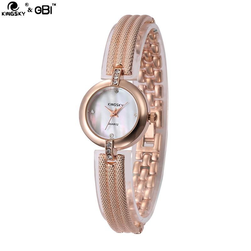 2015 KINGSKY Brand Relogio Feminino Stainless Steel Rhinestone Womens Quartz Watch Wristwatch New Hot XKB52<br><br>Aliexpress