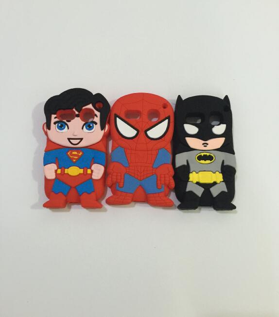 3D Super Hero Superman Spider-man Batman Soft Silicone Rubber Cover Case Alcatel One Touch POP C3 OT4033 - ALEX ZHOU Store store