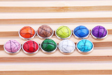 10pcs/lot 12mm Snaps Jewelry Cameo Multicolor Mixed Stone Snap Buttons For Ginger Button Snap Jewelry ZJ1493