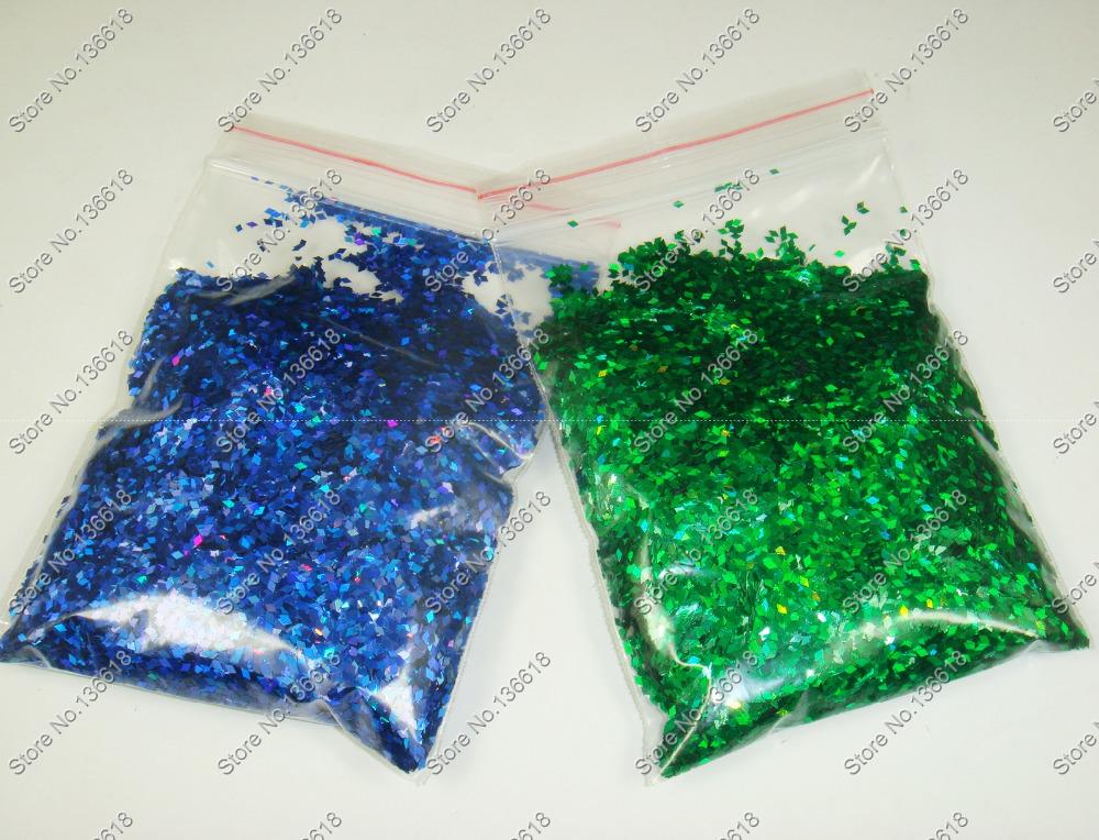 "50g x 1/24""(1mm)Laser Holographic Dark Blue&Green Dazzling Diamond Glitter Paillette Spangles Shape for Nail Art &Glitter Crafts(China (Mainland))"