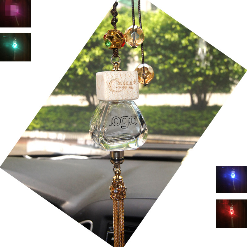 Car perfume pendant Empty bottle colorful RGB led light Air Freshener crystal For BMW M3 M5 E63 E64 E65 E86 E85 E92 E93 E61 F E(China (Mainland))
