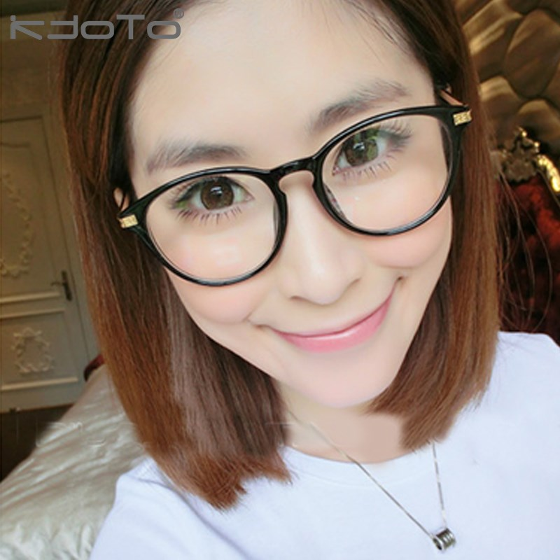 2015 eyeglasses frame vintage plain mirror female fashion round box glasses myopia male y2return the ancients alloy new style(China (Mainland))
