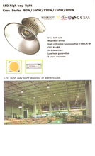 led high bay light 80W/100w/120W/150w/200w led high bay industrial lamp 90-305V Fedex delivery free of charge HKMY-UFO1-80W(China (Mainland))
