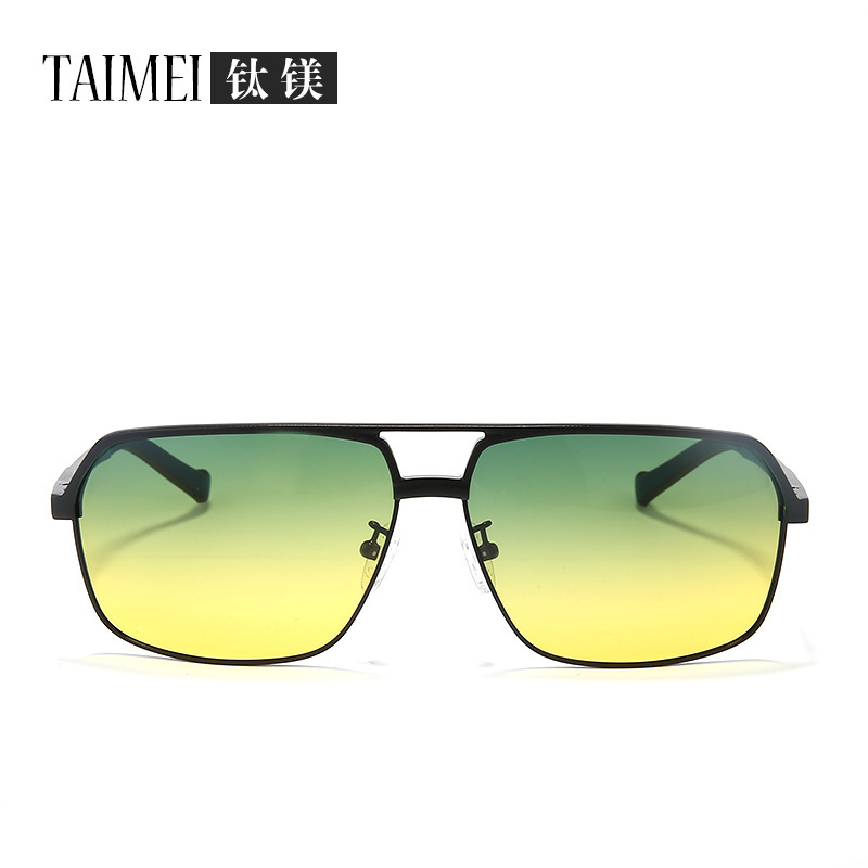 TAIMEI The new aluminum-magnesium alloy fashion polarized sunglasses day and night mirror movement riding the tide mirror wholes(China (Mainland))