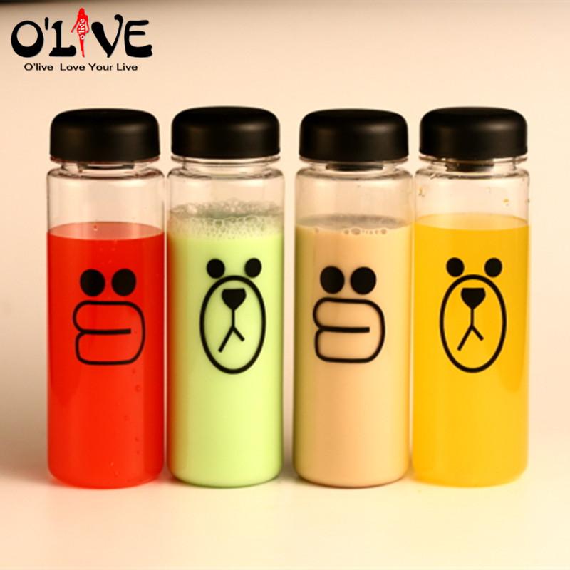 500 ML Water Bottle Plastic Sports Lemon Fruit Bottle Infuser Outdoor Hiking Readily Cup Bear Drinking Bottle(China (Mainland))