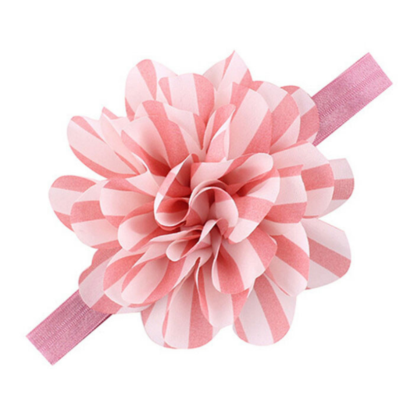 Best Deal New Fashion 1PC Lovely Baby Girls Headbands Striped Flower Headbands For Girls Infant Hair Band Perfect Gift(China (Mainland))