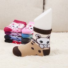 Wholesale spring new children's socks deodorant antibacterial socks warm cotton cartoon baby   in tube socks