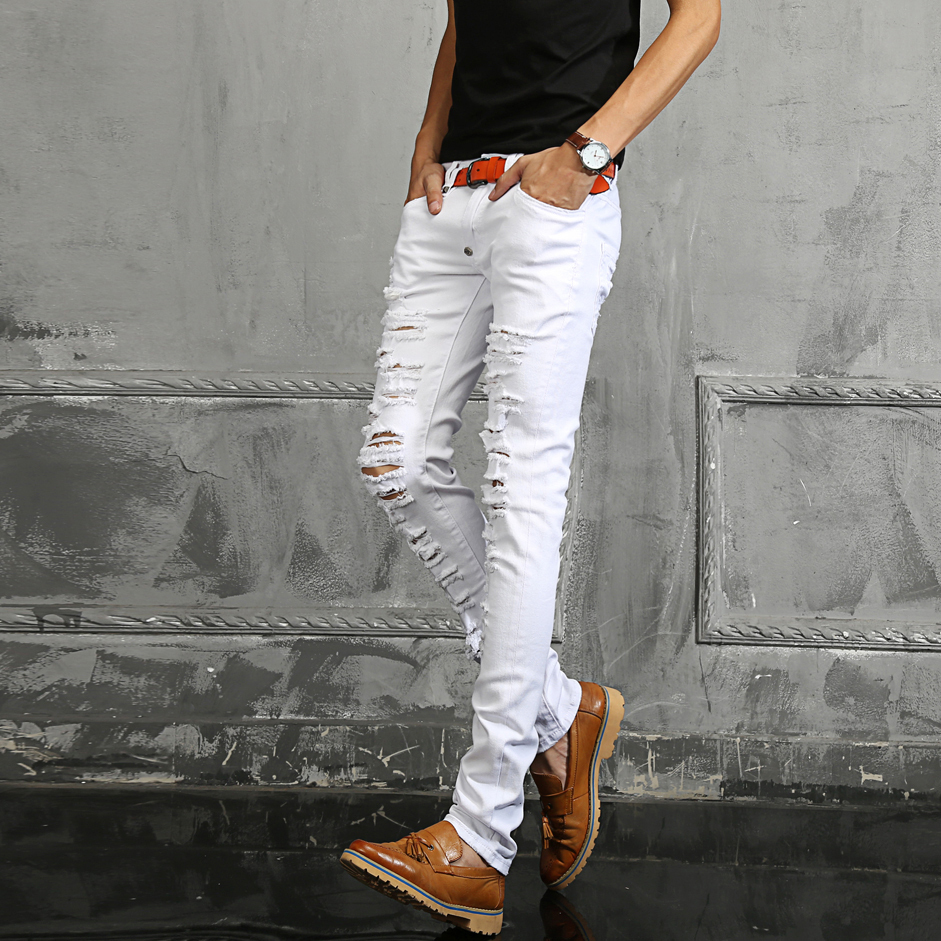 White Denim Mens Jeans - Jeans Am