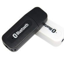 2015 Hot USB Bluetooth Receiver Audio Adapter Bluetooth Music Receiver 3.5mm Stereo for Car AUX, Home Speakers, PC