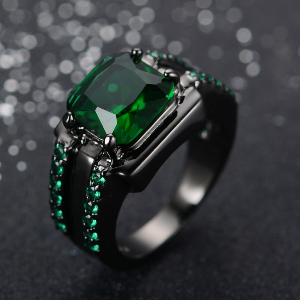 online buy wholesale mens emerald ring from china mens. Black Bedroom Furniture Sets. Home Design Ideas