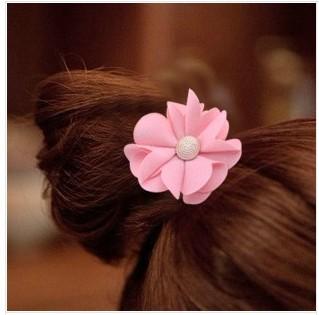 Free shipping 5pcs/lot Chiffon hair holders Popular hair decorations Cheap Fine daisy elastic hair bands Sunflower hair ties(China (Mainland))